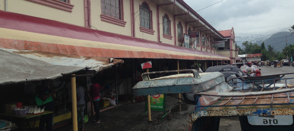 before rehabilitation of canopy in front of public market