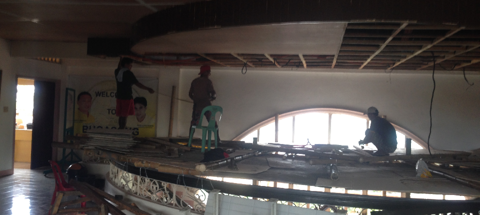 on-going repair of ceiling