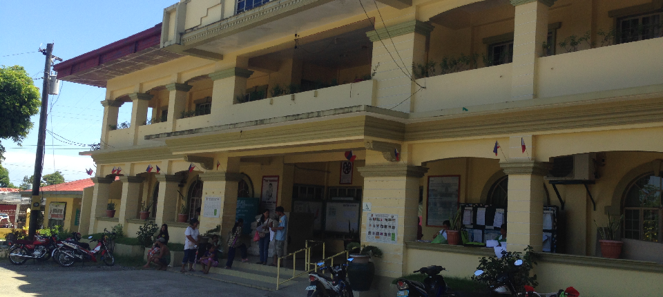 front view of Municipal Hall..turn over